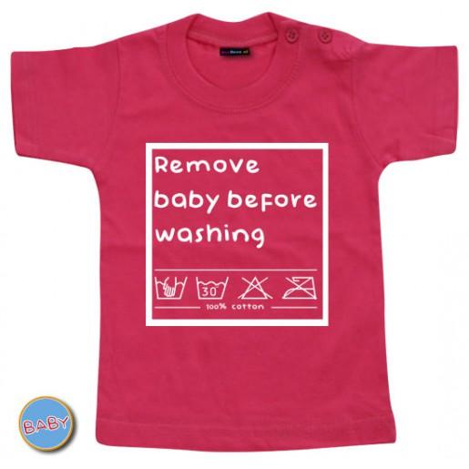 Baby T Shirt Remove baby before washing