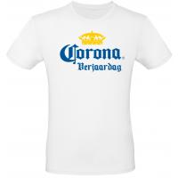 Shirt Corona Verjaardag wit