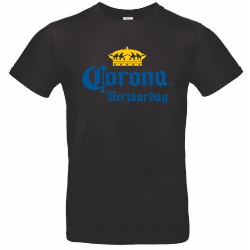 Shirt Corona Verjaardag zwart