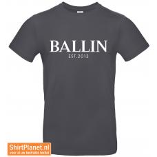 Ballin est.2013 shirt donker grijs