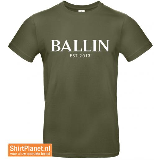 Ballin est.2013 shirt khaki