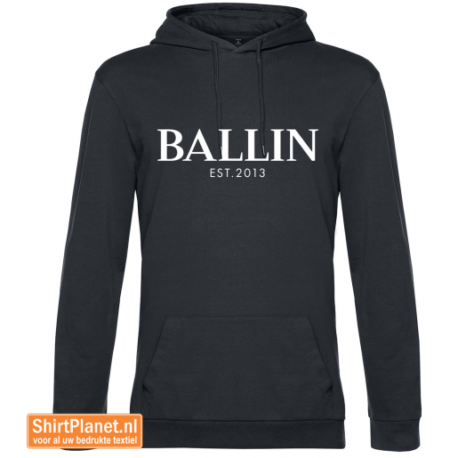 Ballin est.2013 sweater hooded asphalt grey