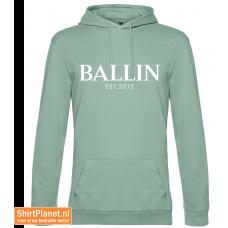 Ballin est.2013 sweater hooded sage-green