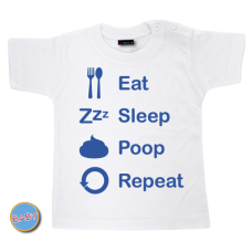 Baby T Shirt eat sleep poop repeat