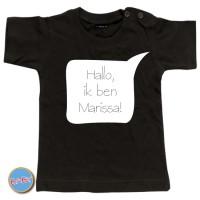 Baby T Shirt Hallo mijn naam is ...