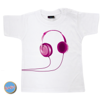 Baby T Shirt Headphone Roze