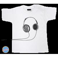 Baby T Shirt Headphone Zwart
