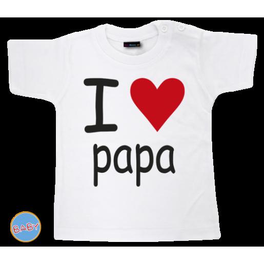 Baby T Shirt I love papa