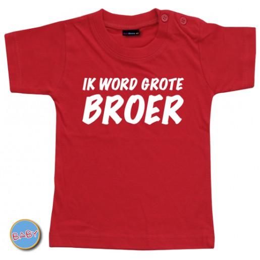 Baby T Shirt Ik word grote broer