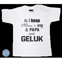 Baby T Shirt Ik ben knap, mama is sexy & papa heeft geluk