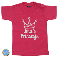 Baby T Shirt Oma´s Prinsesje