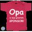 Baby T Shirt Opa is mijn grootste sponsor