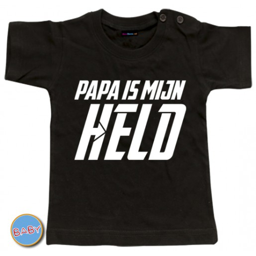 Baby T Shirt Papa is mijn held