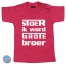 Baby T Shirt Stoer ik word grote broer