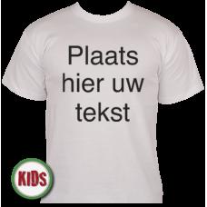Kinder T-shirt eigen tekst