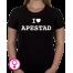 Dames T-shirt I love Apestad