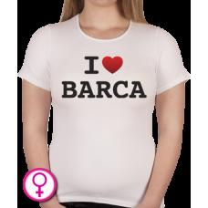 Dames T-shirt I love Barca