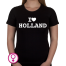 Dames T-shirt I love Holland