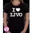Dames T-shirt I love IJVO