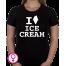 Dames T-shirt I love Ice Cream