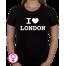 Dames T-shirt I love London