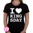 Dames T-shirt I love Kingsday