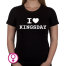 Dames T-shirt I love Kingsday (uitgeschreven)