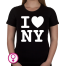 Dames T-shirt I love NY (New York)
