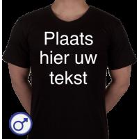 Heren T-shirt met eigen tekst