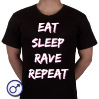 Heren T-shirt Eat sleep rave repeat