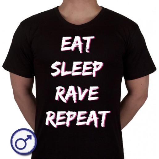 Heren T-shirt Eat sleep rave repeat