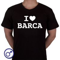 Heren T-shirt I love Barca