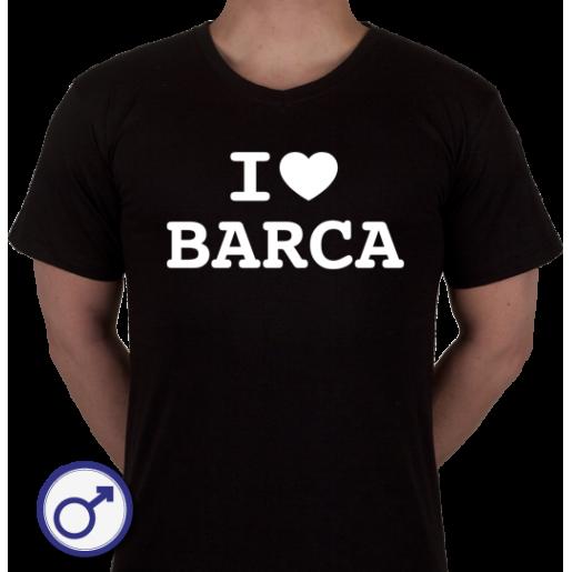 Heren T-shirt I love Barca