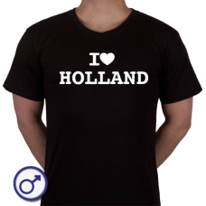 Heren T-shirt I love Holland