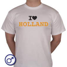 Heren T-shirt I love Holland oranje