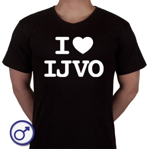 Heren T-shirt I love IJVO