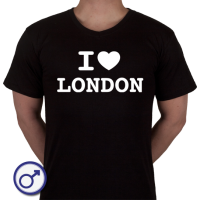 Heren T-shirt I love London
