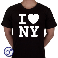 Heren T-shirt I love NY (New York)