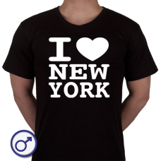 Heren T-shirt I love New York