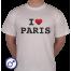Heren T-shirt I love Paris