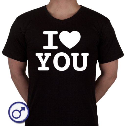 Heren T-shirt I love You