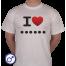 Heren T-shirt I love ... (Zelf invullen)