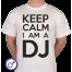 Heren T-shirt Keep calm I am a DJ
