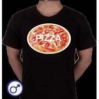 Heren T-shirt Pizza