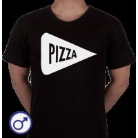 Heren T-shirt Stuk Pizza