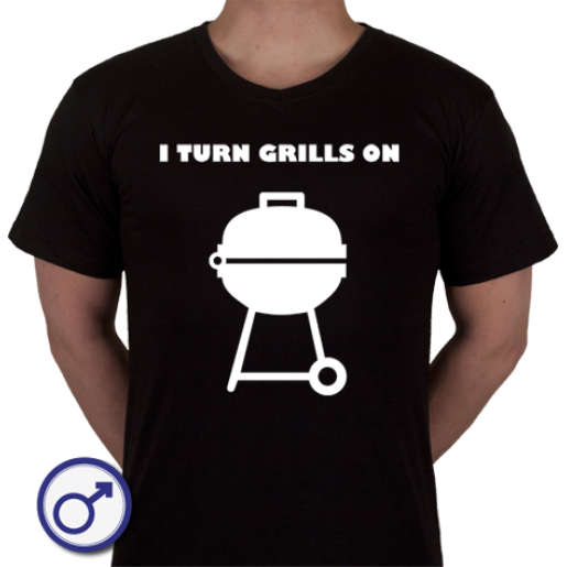 Heren T-shirt I Turn Grills On