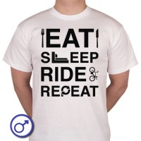 Heren T-shirt Eat sleep ride repeat