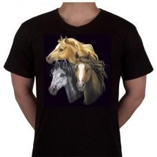 """No 1. Amerika Import Tshirt """"Drie Paarden"""""""