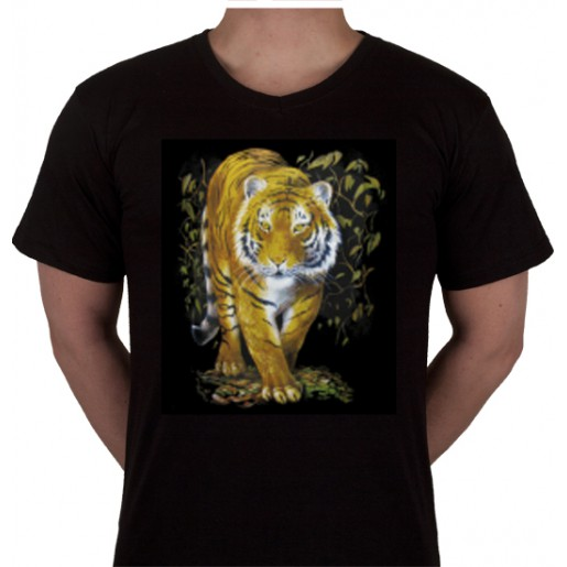 "No 4. Amerika Import Tshirt ""Gele Tijger"""