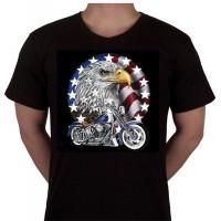 """No 50. Amerika Import Tshirt """"Arend met Motor"""""""